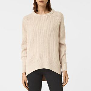 All Saints Beige Lounge Slouch Sweater S